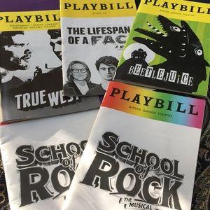 Broadway show Playbills.